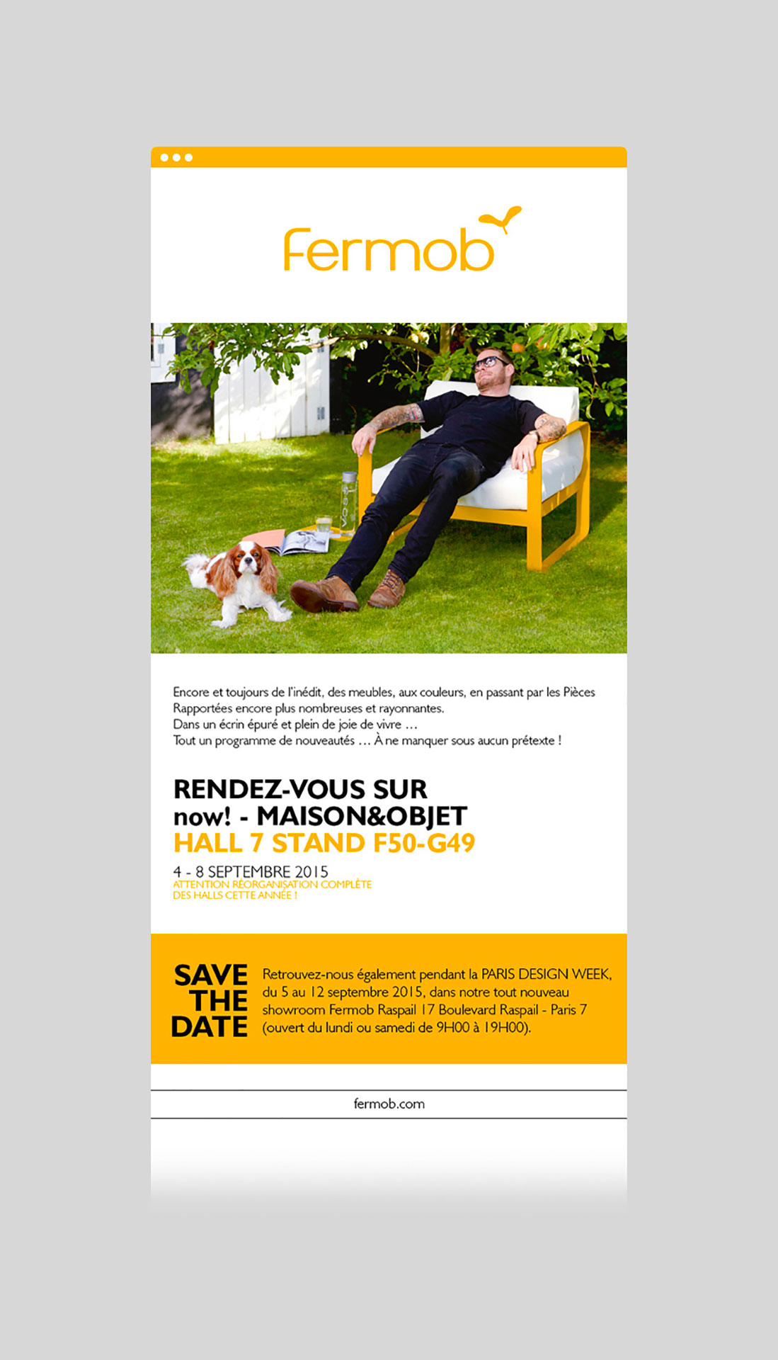 Édition / shooting / webdesign / graphisme pour le catalogue / magazine Fermob daily